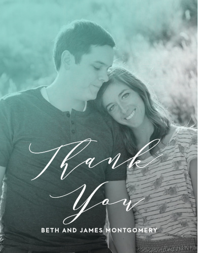 Ocean Spray Wedding Thank You Cards