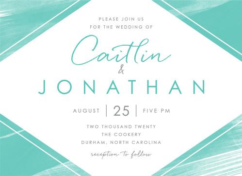 Ocean Watercolor Wedding Invitations