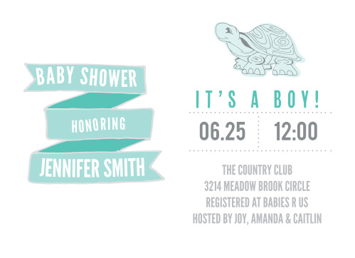 The Marching Turtles Baby Shower Invitations By Basic Invite