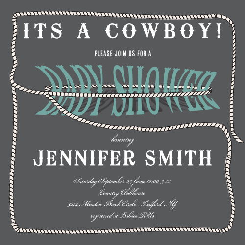 7b5bdfb7b81cd Western Baby Shower Invitations - Match Your Color & Style Free!