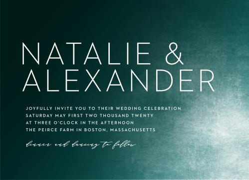 Modern Ombre Wedding Invitations