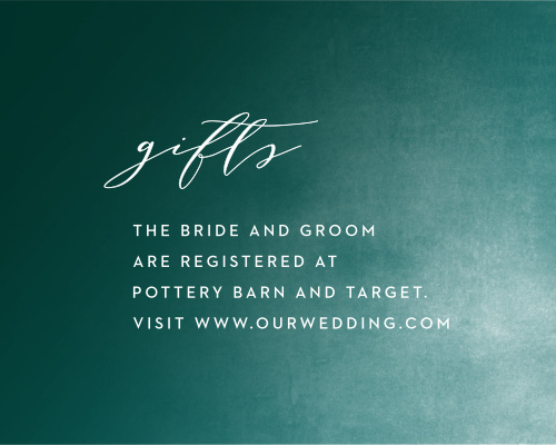 Modern Ombre Registry Cards
