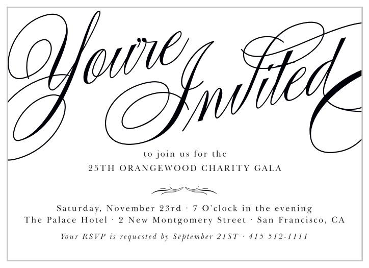 Gala Invitations | Corporate Event & Dinner Invitations