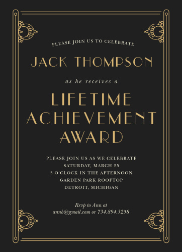 gala invitations corporate event dinner invitations basic invite