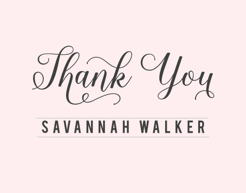 Chic Sophisticate Bridal Shower Thank You Cards