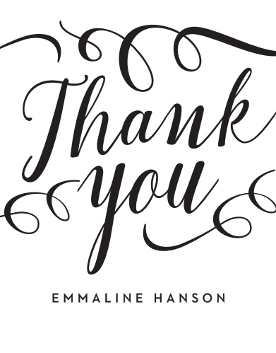 Classically Stated Bridal Shower Thank You Cards