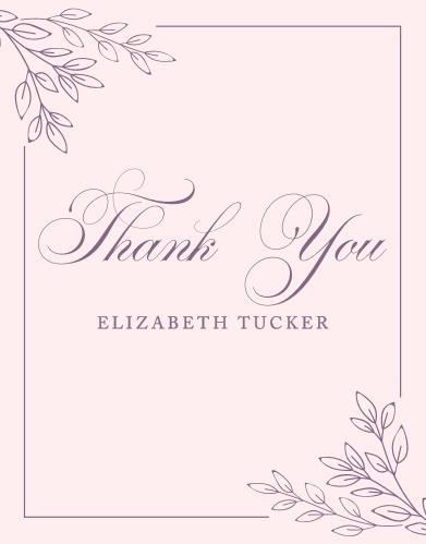 Enchanted Garden Bridal Shower Thank You Cards