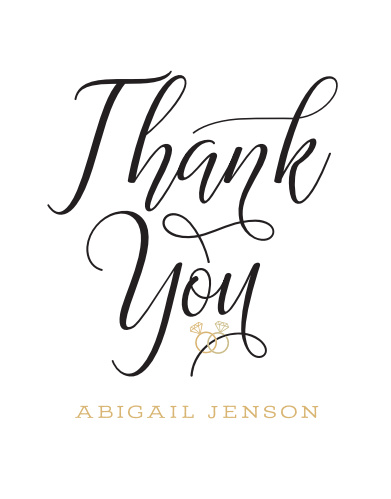 Gilded Bling Bridal Shower Thank You Cards