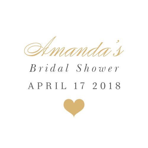 small heart bridal shower stickers