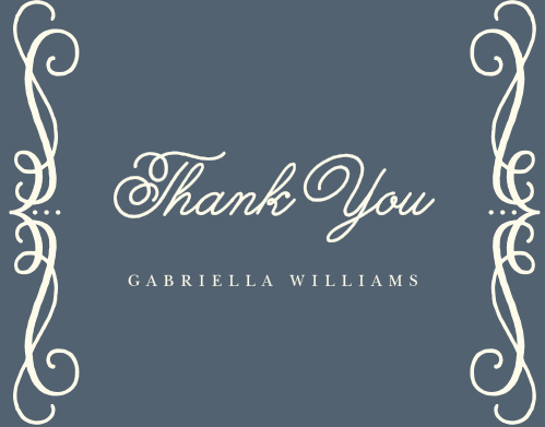 Swirling Script Bridal Shower Thank You Cards