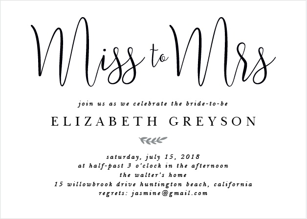 the new mrs bridal shower invitations