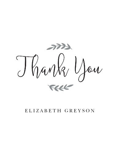 New Mrs Bridal Shower Thank You Cards