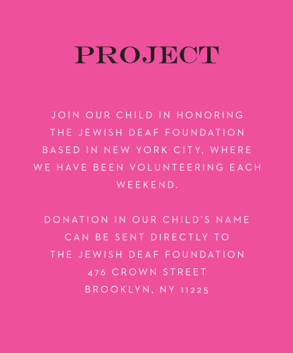 Art Pop Bat Mitzvah Project Cards