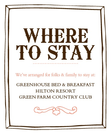 The Country Chic Accommodation Cards