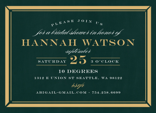 lovely border bridal shower invitations