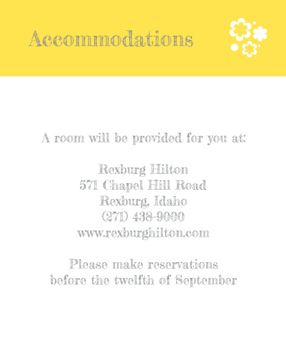 Whimsical Love Birds Accommodation Cards