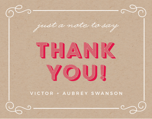 Big Three Baby Shower Thank You Cards
