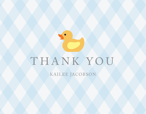 Little Duckie Baby Shower Thank You Cards