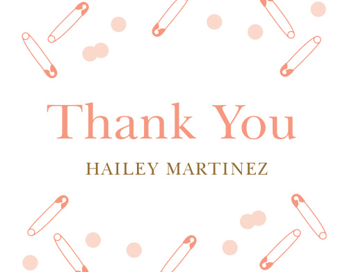 Minimalist Confetti Baby Shower Thank You Cards