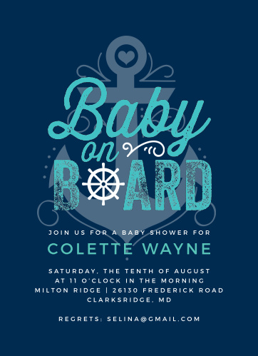 5efe63189 Nautical Baby Shower Invitations - Match Your Color & Style Free!