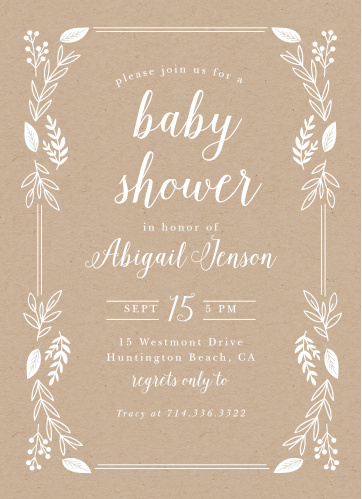 Baby Shower Invitations For Boys Basic Invite