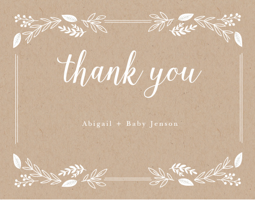 Petit Jardin Baby Shower Thank You Cards