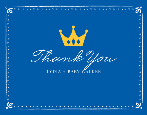 Sweet Prince Baby Shower Thank You Cards