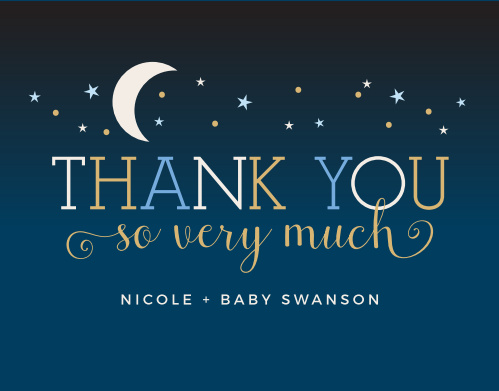 Twinkle Little Star Baby Shower Thank You Cards