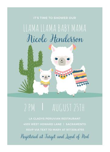 Llama Mama Baby Shower Invitations