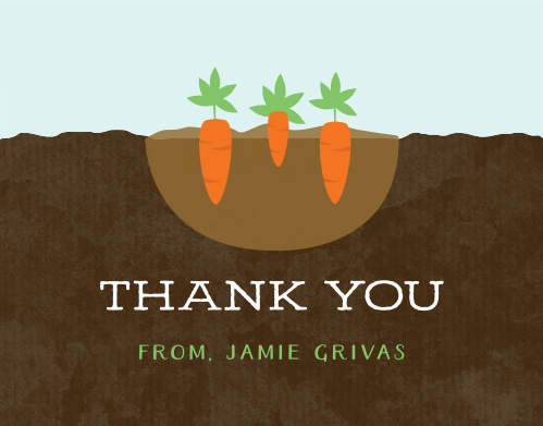 Growing Garden Baby Shower Thank You Cards