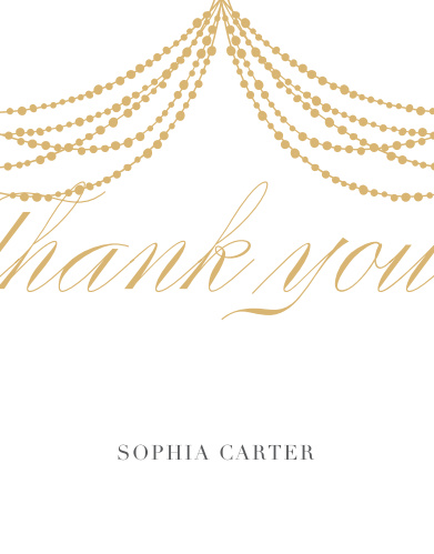 Glowing Glam Adult Birthday Thank You Cards