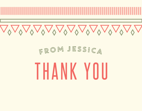 Desert Cactus Baby Shower Thank You Cards