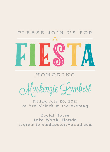 Fun Fiesta Adult Birthday Party Invitations