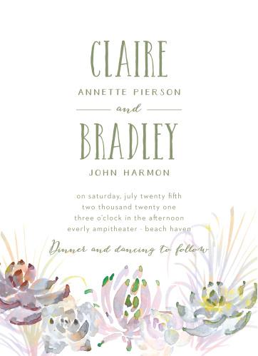 Succulent Wreath Wedding Invitations
