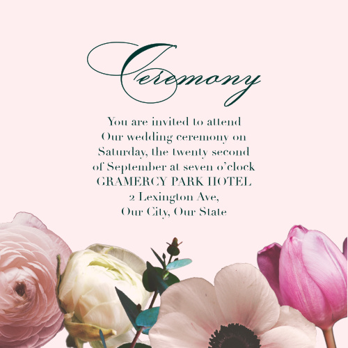 Southern Romance Ceremony Cards