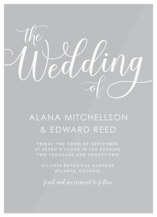 Wedding Invitations   Match Your Color & Style Free!