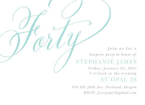 Script Year Adult Birthday Party Invitations
