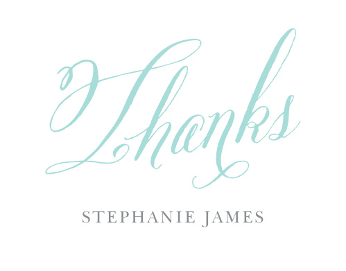 Script Year Adult Birthday Thank You Cards