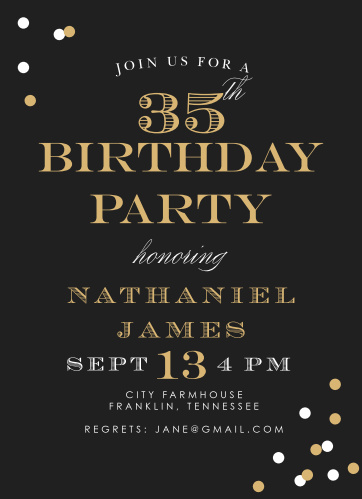 Festive Type Adult Birthday Party Invitations