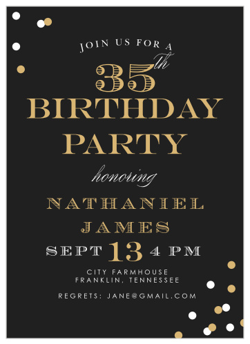 Adult Birthday Invitations Match Your Color Style Free