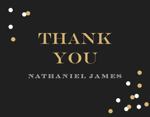 Festive Type Adult Birthday Thank You Cards