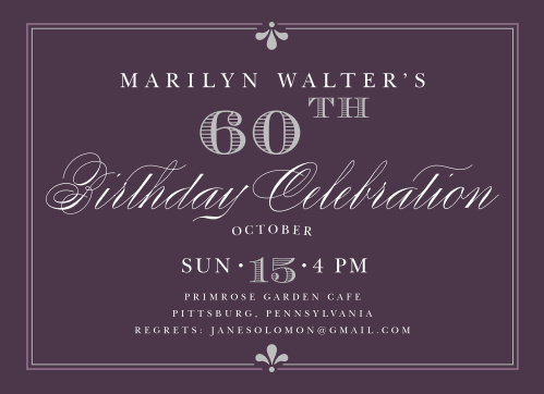 Classy Affair Adult Birthday Party Invitations
