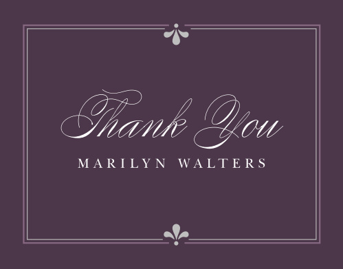 Classy Affair Adult Birthday Thank You Cards
