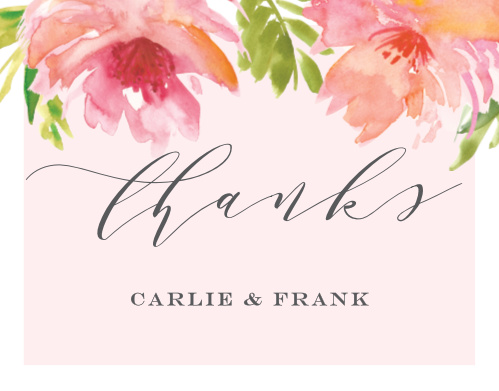 Botanical Gardens Wedding Thank You Cards