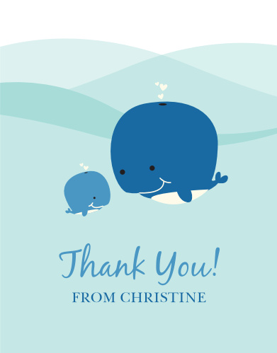 Whale of a Time Baby Shower Thank You Cards