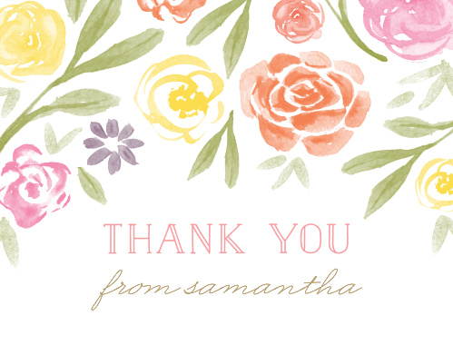 Colorful Florals Baby Shower Thank You Cards