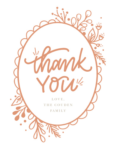 Floral Frame Baby Shower Thank You Cards