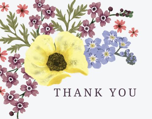 5f8839b2de Garden Dreams Baby Shower Thank You Cards