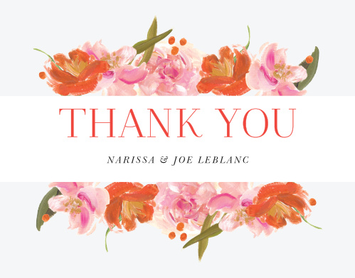 Colorful Oil Paint Wedding Thank You Cards