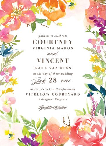 colorful garden wedding invitations by basic invite